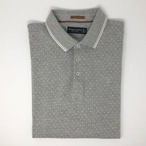 Denim & Flower Polo Shirt Size L
